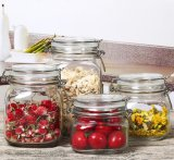 4PC Embossed Food Grade Glass Jar Manufacturer