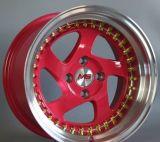 Car Alloy Wheels Red with Deep Lip, Car Alloy Wheels