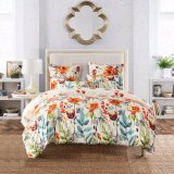 3 Pieces Reversible Printed Microfiber Duvet Cover Bedding Set