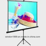 Floor Standing Portable Tripod Manual Projector Screen 70X70 Matte White