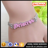 Alloy Chains Fashion Princess Charm Bracelet for Women