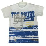 100% Cotton Ocean T-Shirt in Children Clothes Wtih Print