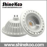 Aluminium Plastic GU10 18W SMD LED Downlight