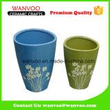 Round Color Glaze Ceramic Flower Vase