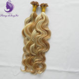 Body Wavy Piano Blonde Color Keratin Flat Tip Hair Extension