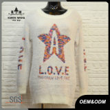 Women Casual Letters Patterned Sweater