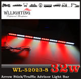 Red White Direactional Warning Light with Suction Cup