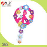 Factory Price Hot Sales Custom Colorful Fashion Metal Art Blank Key for Gifts