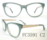 2016 Popular Handcraft Acetate and Metal Combination Eyewear