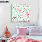 Flamingo Wall Art Oil Painting