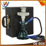 Glass Smoking Pipe Bottle Shisha Set with Bowl Tweezer Hookah