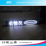 P6 White Color Programmable Taxi Rear Window LED Moving Sign