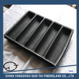 High Quality Black Five Channels Silicone Bread Form