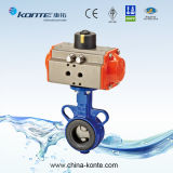Casting Iron Pneumatic Butterfly Valve EPDM Sealing
