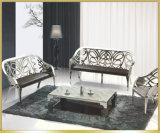 Metal Lounge Chair with PU Seats Living Room Sofa Set
