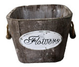 Antique Garden Square Wooden Flower Pot for Any Plant