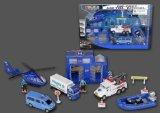 Die Cast Metal Car Play Set Toy-P/B Police Play Set Two