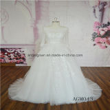 New Design Long Sleeve Lace Muslim Wedding Dress