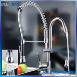 Double Swivel Spout Pull out Spring Kitchen Sink Mixers