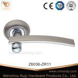 Modern Lever Type Zinc Alloy Door Handle with Round Rose