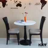 White Quartz Top Round Restaurant Table and Chairs