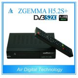 Italy/Spain/German Hot Sale Multistream Decoder Zgemma H5.2s Plus Sat/Cable Receiver DVB-S2+DVB-S2X/T2/C Triple Tuners