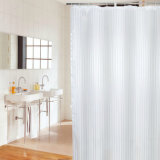 Pure Style Polyester Waterproof Bathroom Shower Curtain for Hotel (02S0003)