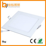 Indoor Lighting 9W AC85-265V 90lm/W Square Recessed LED Panel Ceiling Light