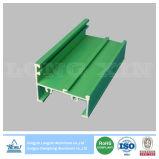 Green Powder Coated Aluminium/Aluminum Profile for Windows