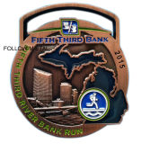 Award Medal, Fifth Third River Bank Run, Poly Paint