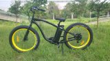 500W/750W Man Beach Cruiser, 4.0 Inch Fat Tire Electric Mountain Bicycle