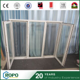 New Design UPVC Profile Open Inside Window with Mosquito Screen