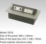 Aluminum Alloy Cover 140*130mm Desk Socket Outlet