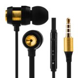 Earbuds with Microphone Tangle Free Flat Cord Stereo in-Ear Headphones