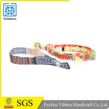 High Quality Woven Custom Fabric Wristband Polyester Bracelet with Clip