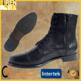 Black Full Genuine Cow Leather Military Police Office Shoes