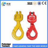 G80 Clevis Swivel Self Lock Hook with Bearing