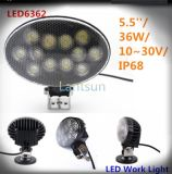 36W Oval Design LED Work Light for Truck Auto Offroad SUV