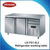 Stainless Steel 2 Doors Kitchen Counter Top Refrigerator Working Table / Refrigerator