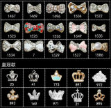 Zircon Material Crown Bow Knot Flower Fox Design 3D Nail Art Jewelry (TP-895-1467)