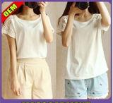 Fashion Sexy Cotton Printed T-Shirt for Women (W294)