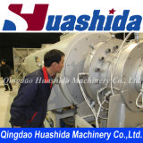 Gas Supply Jacket Pipe Extrusion Line / HDPE Plastic Extruder