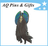 High Quality Metal Soft Cloisonne Pin Badge with Glitter (badge-149)