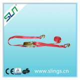 250kg*25mm*5m Ratchet Strap with Double J Hook En12195-1