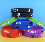 Debossed Silicone Bracelet with Color Fill