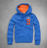 Colorful Soft Breathable Fabric Embroidered Patch Cotton Hoodie with Cap