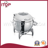 Stainless Steel Mechanical Hinge Induction Chafing Dish for Sale (CD series)