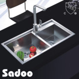 Kitchen Hand Made Double Bowl Ss Sink Top Quality SD-549