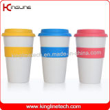 No Leaking 500ml Silicone Coffee Cup with Sillicone Band and Cover OEM (KL-CP004)