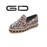 Classy Beautiful Driving Stud Decoration Girls Flat Shoes